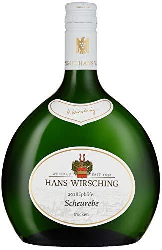 Iphöfer Scheurebe Kabinett tr. 2018, Hans Wirsching, trockener Weisswein im Bocksbeutel aus Franken, 750 ml