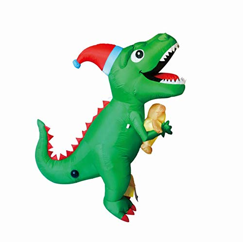 GOOSH 7Foot High Christmas Inflatable Dinosaur Yard Decoration, Indoor Outdoor Garden Christmas Decoration.