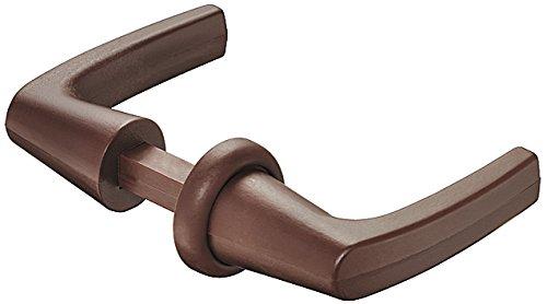 Gedotec deurklinkset rozet-greeppaar voor push-lock schroef-valslot | kunststof bruin | drukpenprofiel 7 mm | 1 stuk - paar drukknoppen voor boot - caravan & camperdeuren