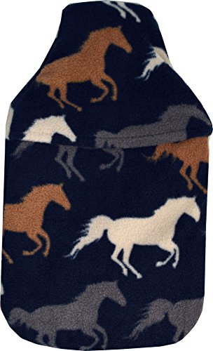 Vagabond Bags Ltd Wärmflasche mit Bezug, Pferde, 2 l