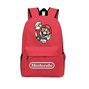 Mochila para Niños Super Mario Bros. Schoolbag Canvas Travel Laptop Backpack 1