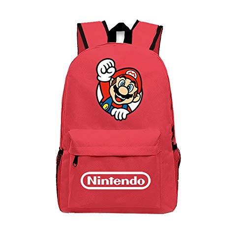 Mochila para Niños Super Mario Bros. Schoolbag Canvas Travel Laptop Backpack 1