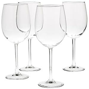 Amazon Basics All-Purpose Wine Glasses, 19-Ounce, Set of 4