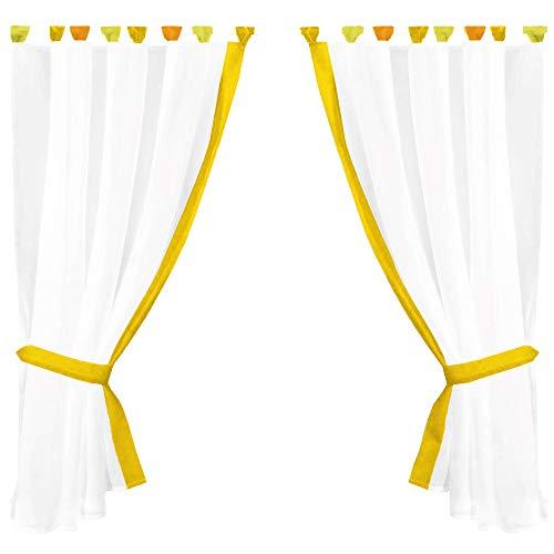 Juego de cortinas cortinas Serie: SKYLINE, tela, gelb - sonnengelb, 140 x 120cm