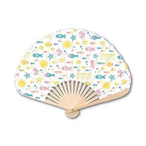 新日本カレンダー 扇子 サマーバカンス 697 サカナ