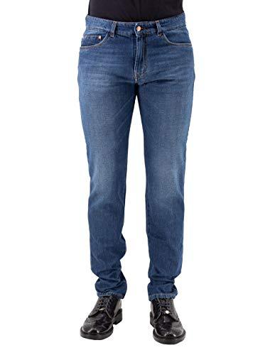Harmont & Blaine Jeans Cinque tas met borduursel blauw - 32