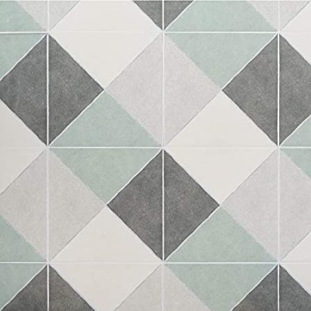10.76 sq. ft.// Case x 9 in Matte Porcelain Floor and Wall Tile Anya Sage Diamond Square 9 in