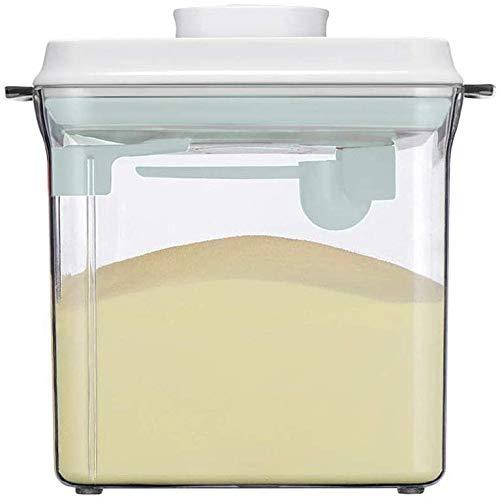 1700ML Luftdichte Milchpulver Spender,Milchpulver Aufbewahrung,Milchpulver Spender Portable mit Löffel, Einhandbedienung, Abnehmbar, zur Aufbewahrung von Baby Milchpulver, Obst und Lebensmitteln