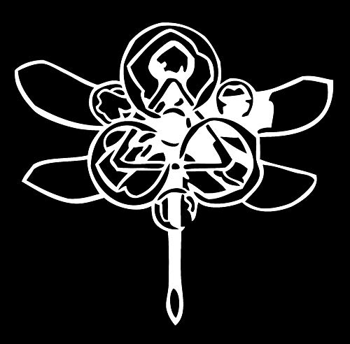 LA DECAL Coheed and Cambria Dragonfly Logo Sign car Truck SUV Window Laptop 6' Gold (White)