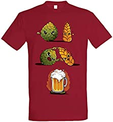 Pampling Camiseta Beer Fusion - Cerveza - Color Cranberry