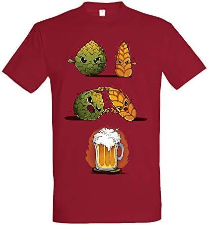 Pampling Camiseta Beer Fusion - Cerveza - Color Cranberry