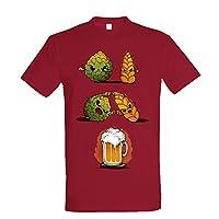 T-shirt pour la plupart des amateurs de bière. Couleur Canneberge. Tailles disponibles: S, M, L, XL et XXL. Veuillez vous référer au guide des tailles dans les images du produit. T-shirt avec sérigraphie de qualité supérieure. T-shirt doux et confor...