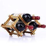 LIAOLEI10 Weinregal Qualität Holz Weinflaschenhalter Kreative Praktische Faltbare Wohnzimmer Dekorative Schrank Rotwein Display Lagerregale, 3 Flaschen, 2