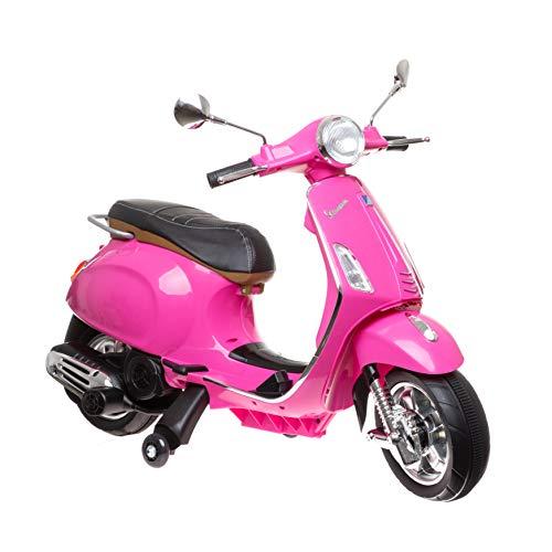 Allpax Vespa - PINK - Kinderfahrzeug Elektroroller Kinderroller Kindermofa Roller Mofa