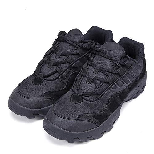 QETUOA Botas De Senderismo Al Aire Libre para Hombres, Zapatos Deportivos Cómodos, Cálidos, Resistentes Al Desgaste Y A Los Impactos, Zapatos Tácticos De Ciclismo Bajo (Negro,39)