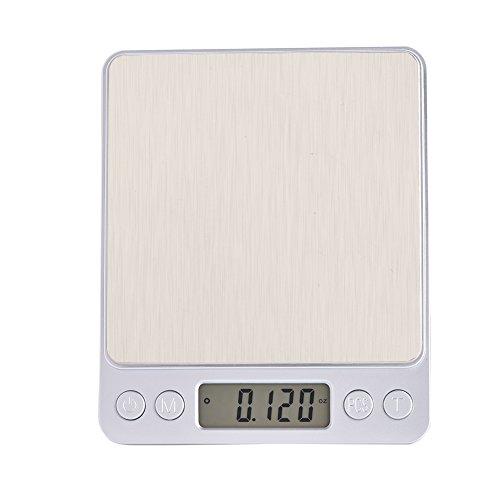 Zerone - Báscula de cocina digital, contador, balanza para alimentos con precisión ajustable y bandeja (3000 g × 0,01 g)