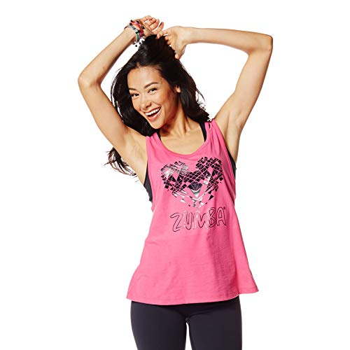 Zumba Dance Atlético Estampado Fitness Camiseta Mujer Sueltas de Entrenamiento Top Deportivo, Berry, XX-Large