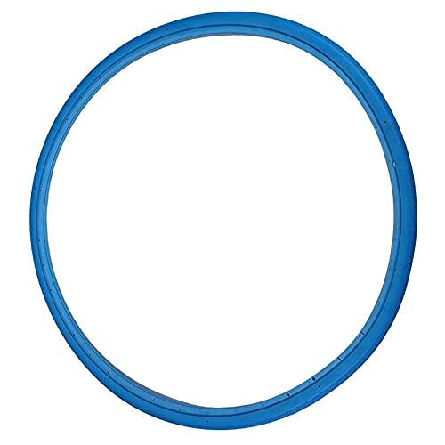 MARMODAY Neumático sólido de bicicleta durable y antideslizante libre inflable sin cámara azul