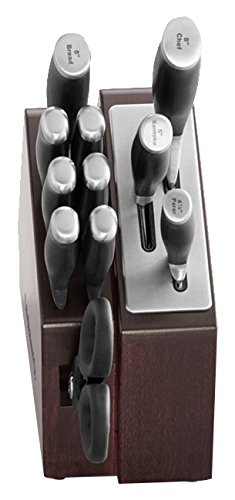 Calphalon 12 Piece Contemporary Space-Saving Self-Sharpening Cutlery Set, Maplewood