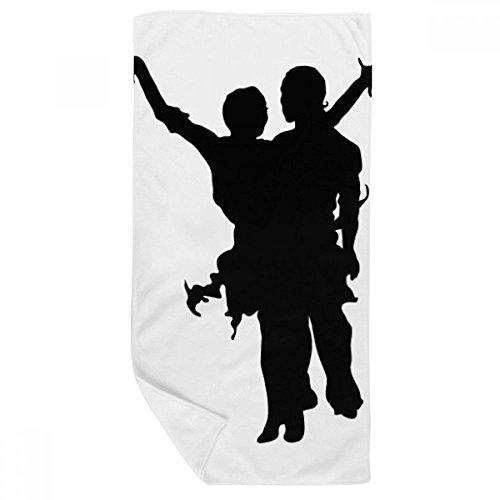 DIYthinker Performance Danseur Duo Danse Art Serviette de Bain Doux Gant de Toilette Gant de Toilette 35X70Cm 35 x 70cm Multicolor
