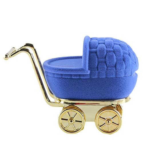 KYMLL Kinderwagen Form Aufbewahrungsbox Ohrringe Aufbewahrungsbox Schmuck Display Halter