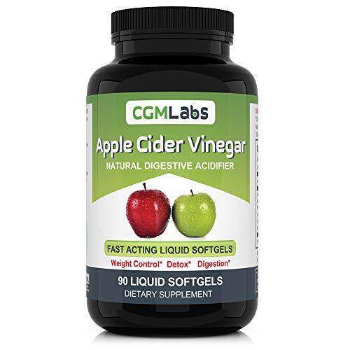 CGM Labs- Liquid Apple Cider Vinegar in Softgels- Weight Control, Detox, Digestion - High Bioavailability, The Most Advanced Apple Vinegar Yet! (90)