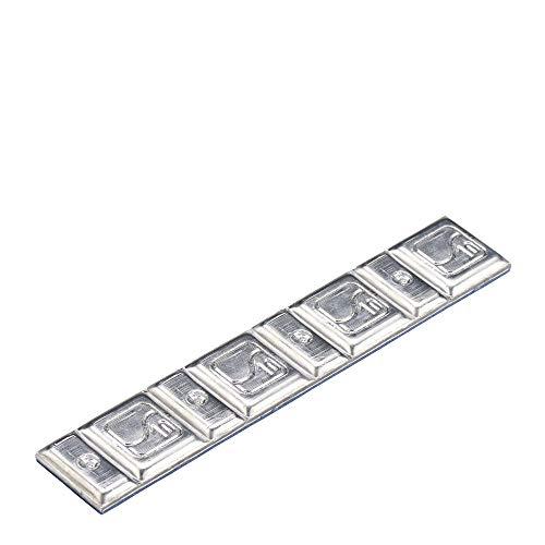 100x Contrappesi adesivi auto zinco Tipo330 60g Hofmann Power Weight, Barre di pesi adesivi, pesi equilibratura auto