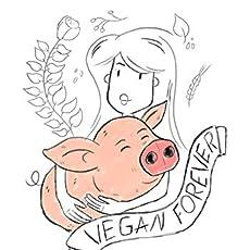 wiese-art Postkarte vegan forever