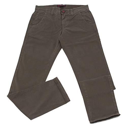 Carlo Chionna 0552K Pantalone Uomo 9.2 Denim & CO. Jeans Green Delave' Cotton Trouser Man [32]