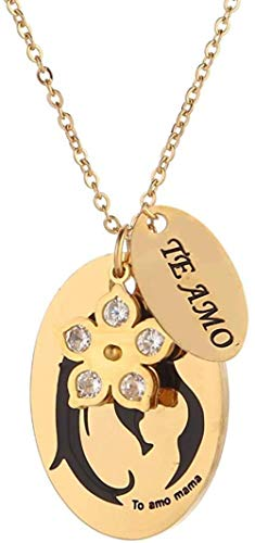 huangxuanchen co.,ltd Necklace I Love You Necklace Te Amo Collar in Spanish Mom Love Quote Necklace Jewelry Gift to Mom