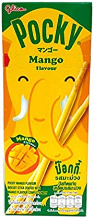 Glico Pocky Choco Mango Flavour Biscuit Sticks, 25 g
