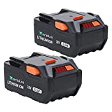 【Upgrade】 TenHutt 2 Packs 6.0Ah 18V Lithium Ion Replacement Battery for Ridgid 18V Cordless Power Tools R840084 R840087 R840083 R840085 R840086 Battery