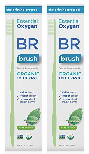Essential Oxygen BR Certified Organic Toothpaste, for Whiter Teeth, Fresher Breath, Happier Gums,...