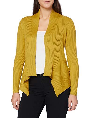 ESPRIT Damen 998EE1I803 Strickjacke, Gelb (Brass Yellow 720), XS