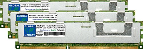 48GB (3 x 16GB) DDR3 1066/1333MHz PC3-10600 240-PIN ECC REGISTRADO DIMM (RDIMM)...