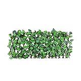 La expansión de la Cerca del Enrejado, Cerca del Enrejado retráctil Paneles de la Cerca con Las Hojas del Verde Artificial protegida Ultravioleta Pantalla de la Aislamiento para Paredes de