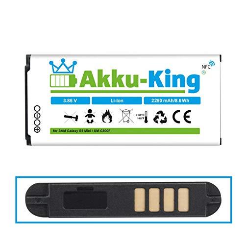 Akku-King Batteria per Samsung Galaxy S4 Mini i9190, i9192, i9195, i9198 - sostituita EB-B500BE, EB-B500BU - Li-Ion 2100 mAh