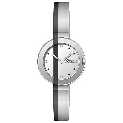 Gardé analogico orologio da polso elegante da donna, bracciale in acciaio...