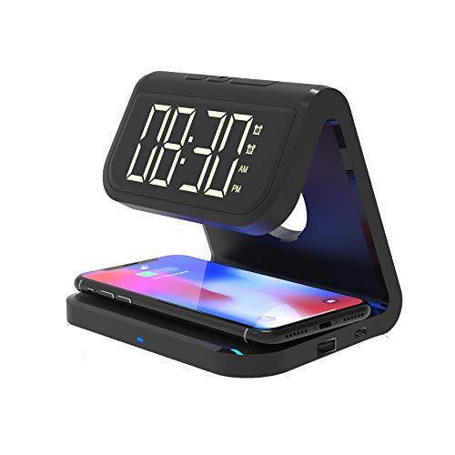 Blaupunkt MP2850-133 Lautsprecher mit Ladegerät Induktion für Smartphone – Radio Wecker – Bluetooth – 4 W – Schwarz