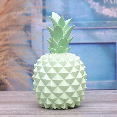 Erfhj Abstract hars ananas geld doos home decoratie cash munt spaarpot creatieve geld doos ananas decoratie, Groen