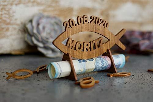 Geschenk zur Kommunion Konfirmation aus Holz