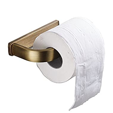 Rozin Wall Mounted Toilet Paper Holder Antique Brass Finish