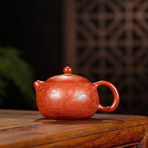 NCOEM Tetera Vintage para té a Granel Tetera de jarras novedosas para té y café Tetera púrpura Pot Mano-Grande Tetera de Arcilla púrpura roja