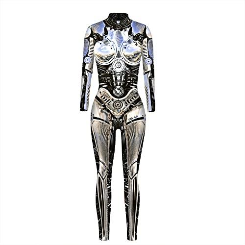 ArcherWlh Holloween,Leggings Push Up Mujer Deporte,2021 3D Mech impresin Digital Mujeres Europeas y Americanas Disfraz de Cosplay de Halloween Traje de Ventilador de Moda fresco-BAX168_S