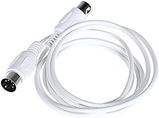 Van Damme Midi Lead 5 Broches Din Phantom Power Synth 25 cm, Noir Pied Switch Cable 1 m Noir Interface