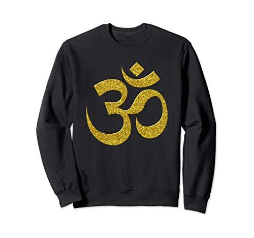 OM, Brahman, vintage, retro de oro símbolo de hinduismo Sudadera