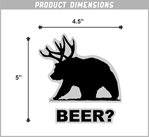Beer Bear Funny Vinyl Sticker 5 Inch  