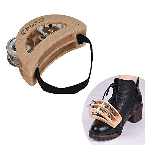 DishyKooker Gecko GK05-TAP Cajon Box Drum Companion Zubehör Fuß Jingle Tambourine