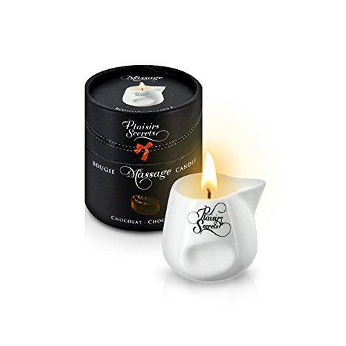 Vela Masaje Erótico Comestible y Afrodisíaca con Aroma Chocolate 80 ml. en Recipiente de Cerámica – Plaisirs Secrets Paris