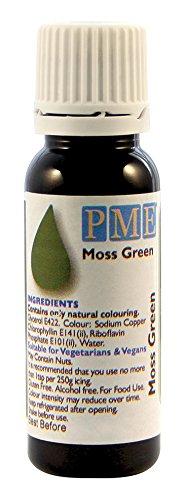 PME 100% natürliche Lebensmittelfarbe - Moosgrün, 25 g